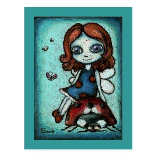 Redhead Lucy postcard