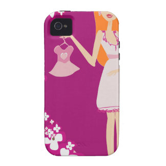 redhead pregnant woman iPhone 4/4S covers
