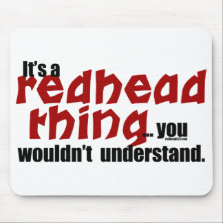 Redhead Thing Mouse Pad