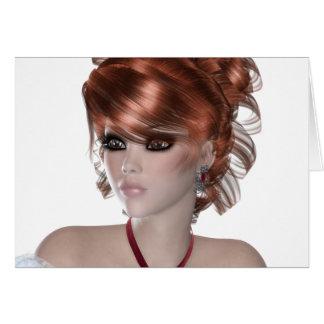 Redhead Woman Cards