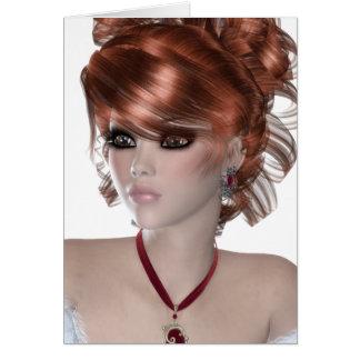 Redhead Woman Card