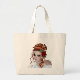 Redhead Woman Tote Bags