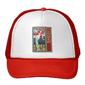 redheaded coney island mermaid cap