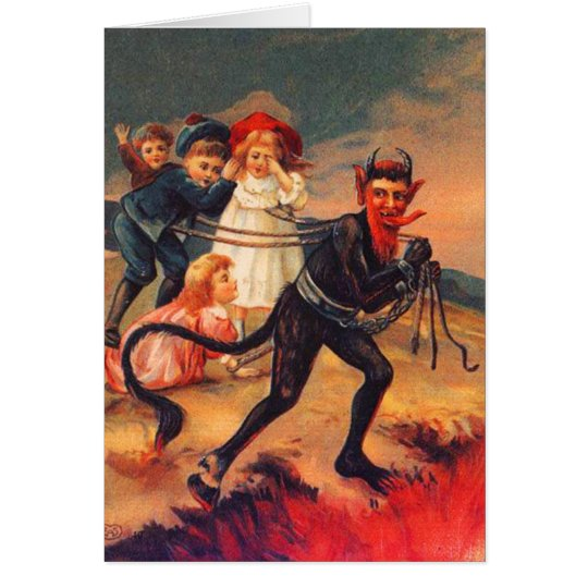 Redheaded Krampus Christmas Cards