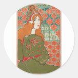 Redheaded Maiden Classic Round Sticker