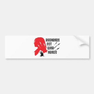Redheads Not Warheads Car Bumper Sticker