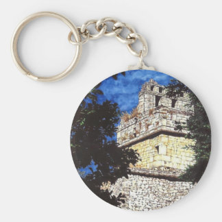 Rediscovering the Past Basic Round Button Key Ring