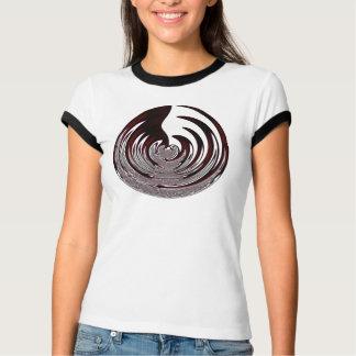 Redish Black Abstract Circle Shirt