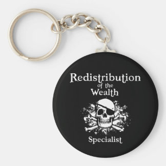 Redistribution Specialist Basic Round Button Key Ring