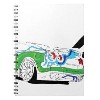 Redlights Spiral Notebook