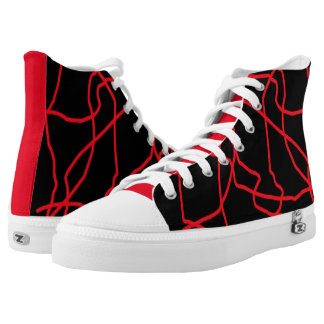 Redlines Hi-Top Tennis Shoes Printed Shoes