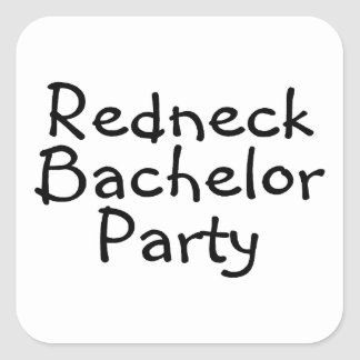 Redneck Bachelor Party Stickers