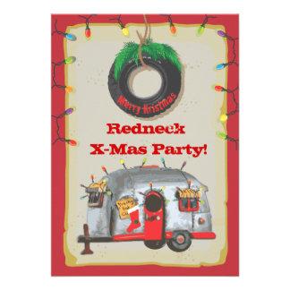 Redneck Christmas Party Invitations