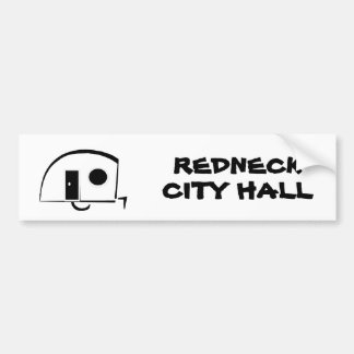 REDNECK CITY HALL bumper sticker