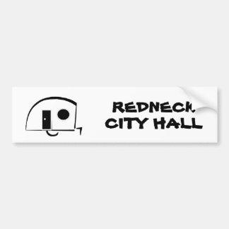 REDNECK CITY HALL bumper sticker