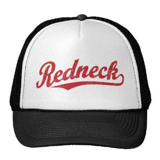 Redneck distressed script logo cap