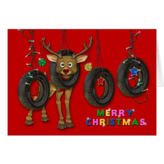 REDNECK FUN CHRISTMAS CARD - TIRE SWINGS