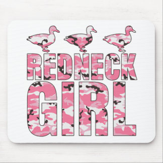 Redneck Girl Pink Camouflage 3 Ducks Mousepad