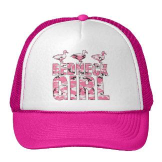 Redneck Girl Trucker Hat with Pink Camouflage Duck Hat