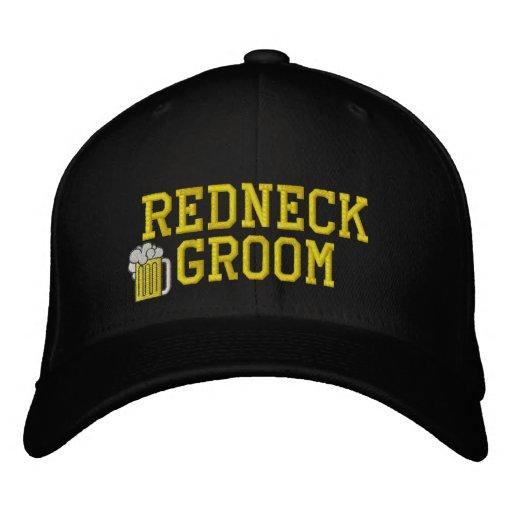 Redneck Groom Embroidered Hat