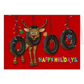 REDNECK HAPPY HOLIDAYS/TIRE/SWINGS - MULTI-PURPOSE GREETING CARD