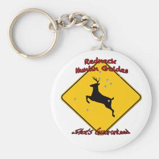 Redneck huntin guide basic round button key ring