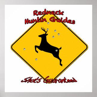 Redneck huntin guide poster