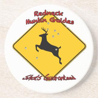 Redneck huntin guide sandstone coaster