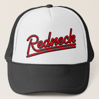 Redneck neon light trucker hat
