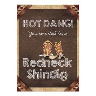 Redneck Party Invite