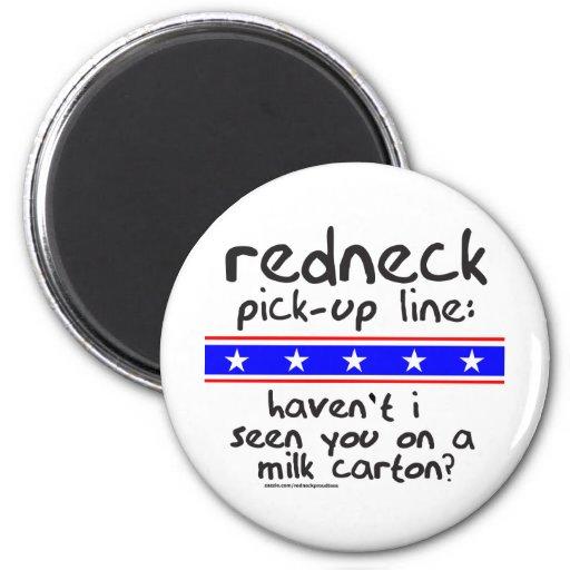REDNECK PICK-UP LINE MILK CARTON T-SHIRTS FRIDGE MAGNETS