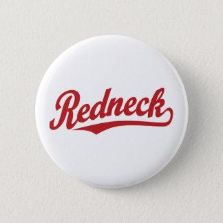 Redneck script logo 6 cm round badge