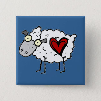 Redneck Sweetheart - Sheep Love 15 Cm Square Badge