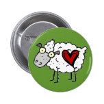 Redneck Sweetheart - Sheep Love Button