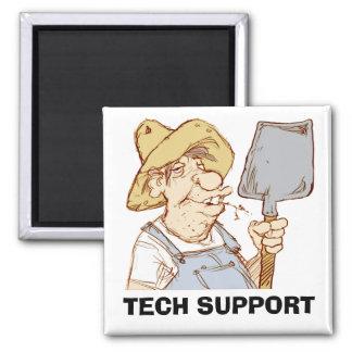 Redneck Tech Support Square Magnet