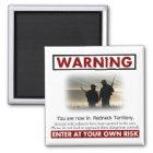 Redneck Territory Warning Magnet