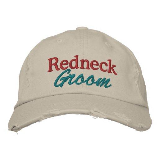Redneck Wedding - Groom by SRF Embroidered Hats