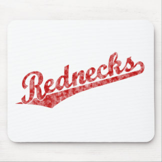Rednecks script logo in Red Distressed Mouse Pad