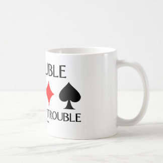 Redouble Can Mean Trouble Basic White Mug