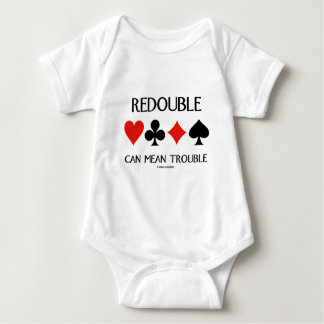Redouble Can Mean Trouble (Four Card Suits) Baby Bodysuit