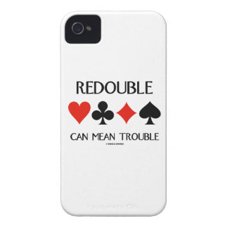 Redouble Can Mean Trouble (Four Card Suits) Case-Mate iPhone 4 Case