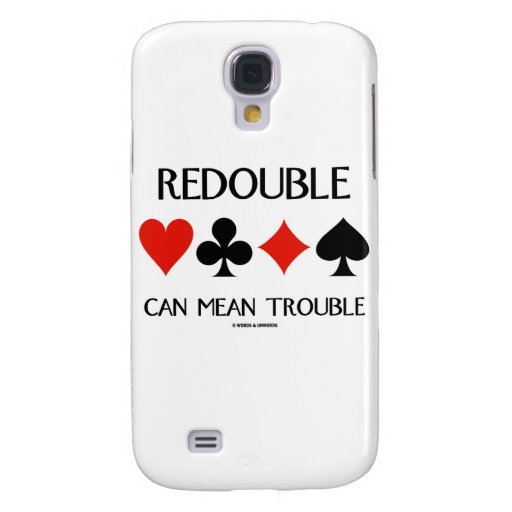 Redouble Can Mean Trouble (Four Card Suits) HTC Vivid Case