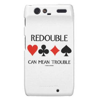 Redouble Can Mean Trouble (Four Card Suits) Droid RAZR Case