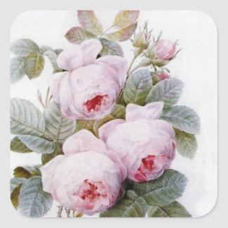 Redoute 4 Rose Stickers