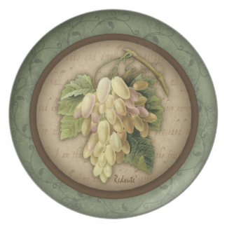 Redoute' Grape Plate