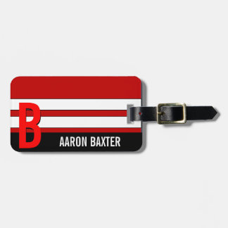 RedPersonalized Monogram Custom Tag