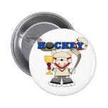 redpolarhockeyone pinback button