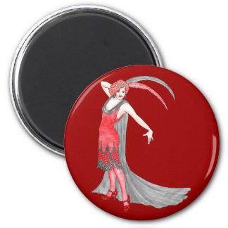 Redqueen's Scarlet Flapper 6 Cm Round Magnet