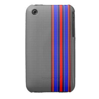 Reds/Blues Vertical Stripes Case iPhone 3 Cover