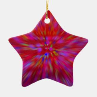 Reds explosion ceramic star decoration